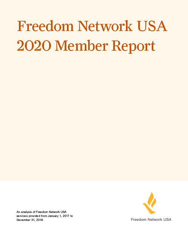 Cover of 2020 Freedom Network member report